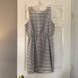 J. Crew blue and white striped dress